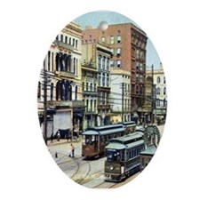 Old Canal Street Oval Ornament