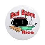 Red Beans and Rice Round Ornament