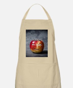 creepy red apple smile face Apron