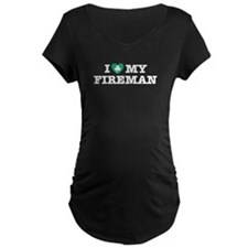 I Love my Irish Fireman T-Shirt
