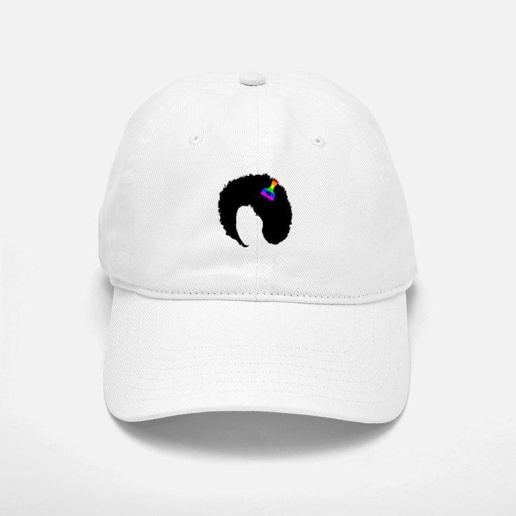 vintage afro american peace sign black african Baseball Baseball Cap