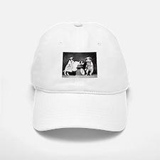 vintage dog parents baby puppy black white pho Baseball Baseball Cap