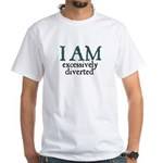 Excessively Diverted White T-Shirt