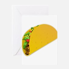 taco mexican food minimalist art Greeting Cards