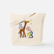 Cute Girls giraffe Tote Bag