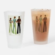 1970s vintage men Drinking Glass