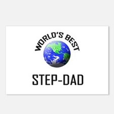 World's Best STEP-DAD Postcards (Package of 8)
