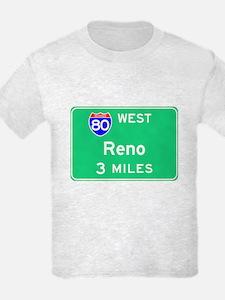 Reno NV, Interstate 80 West T-Shirt