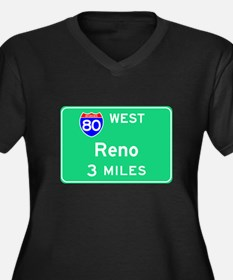 Reno NV, Interstate 80 West Women's Plus Size V-Ne