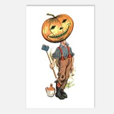 Jack-O-Lantern Man Postcards (Package of 8)