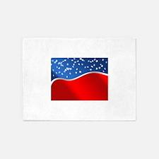 abstract american flag 5'x7'Area Rug