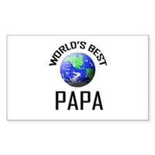World's Best PAPA Rectangle Decal