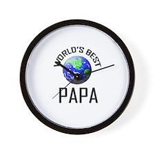 World's Best PAPA Wall Clock