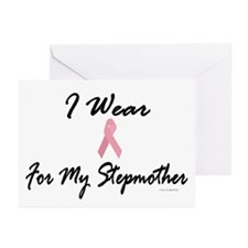 I Wear Pink For My Stepmother 1 Greeting Cards (Pa