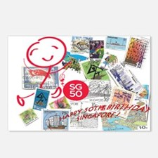 SG50-Singapore's 50th Bda Postcards (Package of 8)