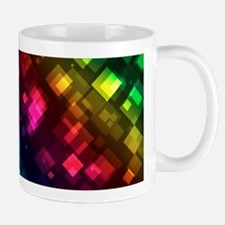 ombre square rainbow Mugs