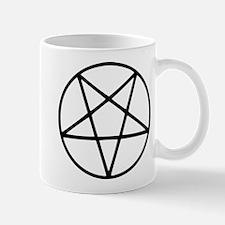black white pentagram star Mugs
