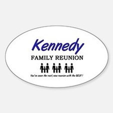 Kennedy Family Reunion Oval Decal