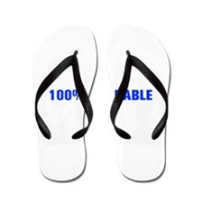 100 Adorable-Akz blue Flip Flops