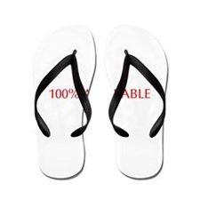 100 Adorable-Opt red Flip Flops