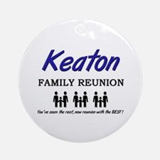 Keaton Family Reunion Ornament (Round)