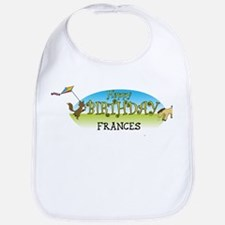 Happy B-Day Frances (farm) Bib