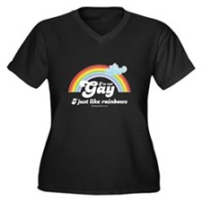I'm not gay. I just like rainbows. Women's Plus Si