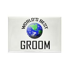 World's Best GROOM Rectangle Magnet