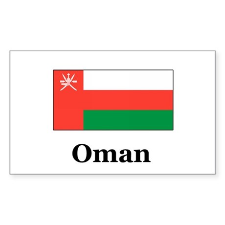 Oman Rectangle Sticker