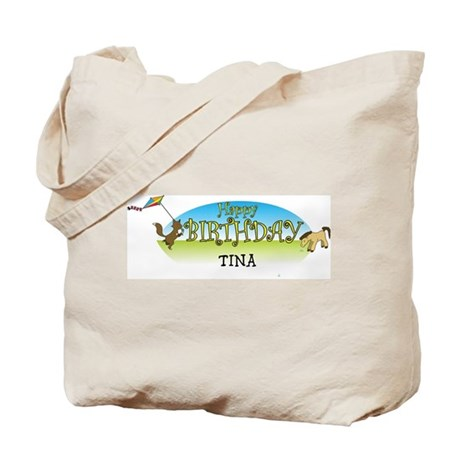 Happy B-Day Tina (farm) Tote Bag