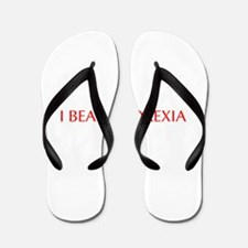 I beat anorexia-Opt red Flip Flops