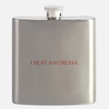I beat anorexia-Opt red Flask