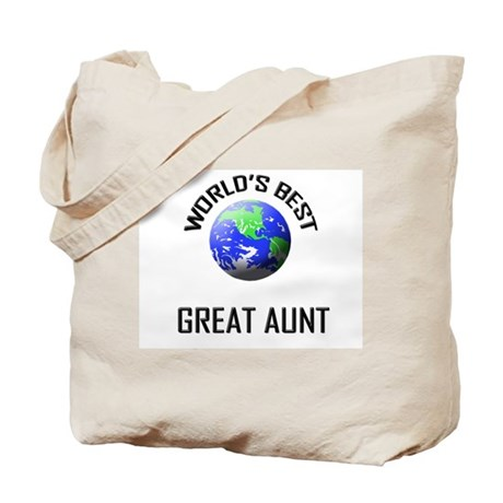 World's Best GREAT AUNT Tote Bag