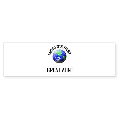 World's Best GREAT AUNT Bumper Sticker