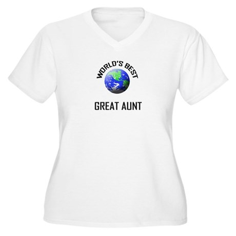 World's Best GREAT AUNT Women's Plus Size V-Neck T