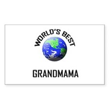 World's Best GRANDMAMA Rectangle Decal