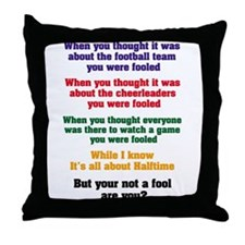 Funny Drum corps Throw Pillow