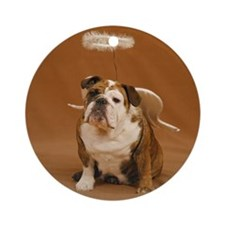 Chubby Angel-Gold Ornament (Round)