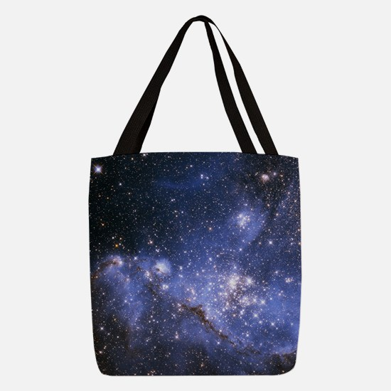 Magellan Nebula Polyester Tote Bag
