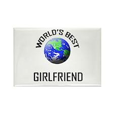 World's Best GIRLFRIEND Rectangle Magnet