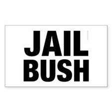 Jail Bush Rectangle Decal