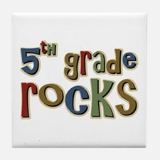 5th Grade Rocks Fifth School Tile Coaster