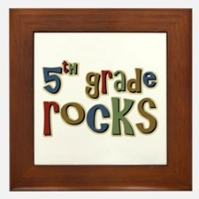 5th Grade Rocks Fifth School Framed Tile