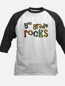 5th Grade Rocks Fifth School Kids Baseball Jersey