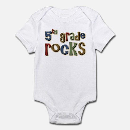 5th Grade Rocks Fifth School Infant Bodysuit