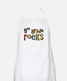 5th Grade Rocks Fifth School BBQ Apron