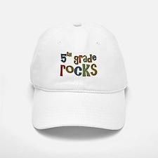 5th Grade Rocks Fifth School Baseball Baseball Cap