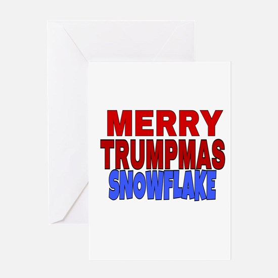 MERRY TRUMPMAS SNOWFLAKE Greeting Cards