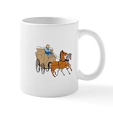 Stagecoach Driver Horse Cartoon Mugs