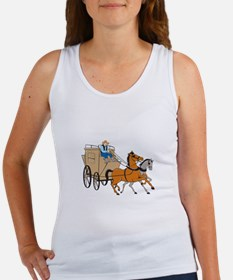Stagecoach Driver Horse Cartoon Tank Top